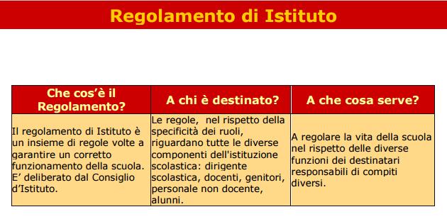 regolamento istituto immagine